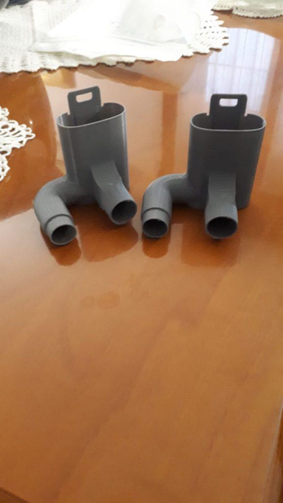 stampa 3d valvole di raccordo per maschere della Decathlon