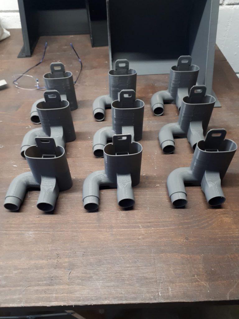 set di stampa 3d valvole di raccordo per maschere della Decathlon