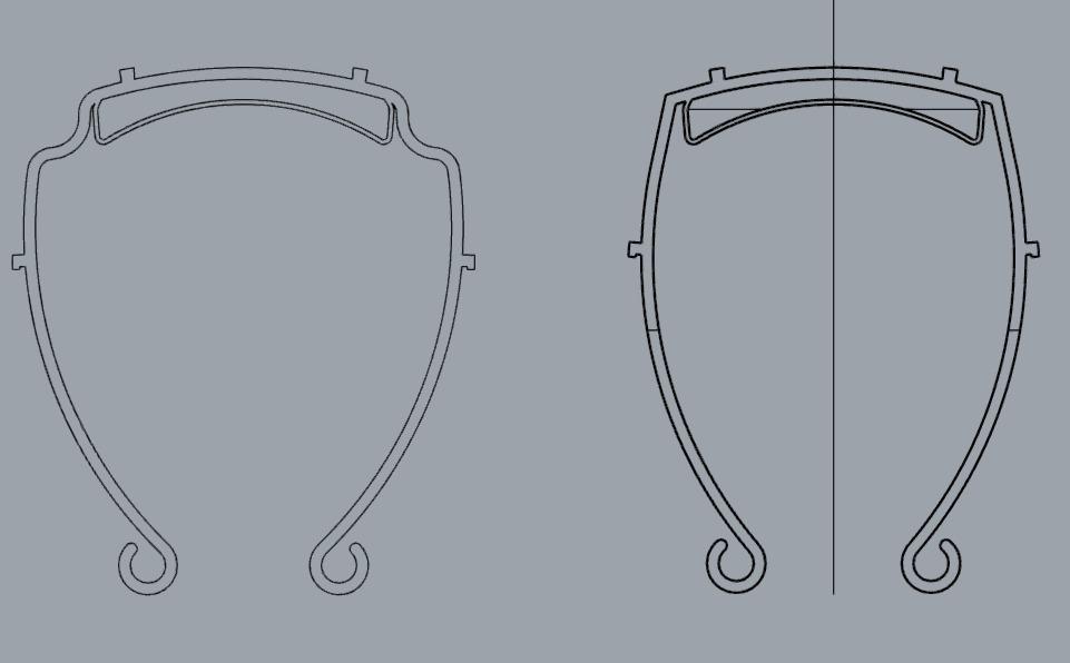 disegno per la costruzione di visiere per coronavirus con stampa 3d